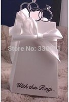 Wholesale wedding favor candy box With this Ring Elegant Icon Favor sweet favor Box party chocolate box