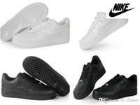 shoe chains - Nike Air Force Men Women Sports Skateboarding Running Shoes Forever Classics AF Low Band White Black Basketball Shoes Size