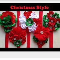 best hair flowers - New Winter Childrens Christmas Party Princess Headband Best Sale Girls Flower Farbic Fashion Headband Kids Hair Accessories