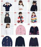 baby sweater hoodie - DHL Children Crochet Clothing Kids Tops Baby Boys Girls Plain Sweater Coat Blouse Crochet Hoodies Winter Autumn Knitted Sweaters