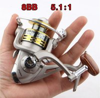 Wholesale 6BB Bearing Balls Spinning Fishing Reels Pesca GS1000 Metal Carretilha Pesca Baitcasting Reel Ice Fishing Tackle HW3003