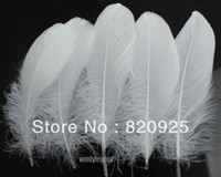 goose feathers - 100pcs White Color Goose Feather cm inch Wedding Party DIY Decor Crafts