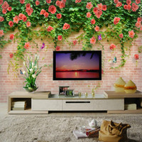Wholesale TV background wallpaper wallpaper d stereoscopic large mural wall covering cozy living room silk cloth Juan