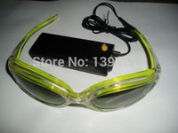 Wholesale Christmas popular item EL wire glasses EL glasses with el wire and inverter rich in color free ship