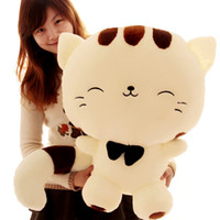 big cat gifts - 2016 hot new Sitting height cm Lovely big face cat plush toy piece Cat Stuffed animals pillow birthday gift