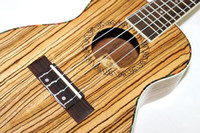Wholesale Concert Ukulele Inch Hawaiian Mini Small Guitar Strings Ukelele Guitarra Handcraft Zebra Wood Musical Instruments Uke