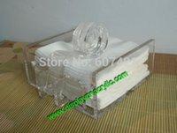 acrylic sheet holder - Pack units Fashionable Large Size Seat Type Acrylic Cocktail Napkin Dispenser Holders