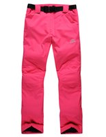 Wholesale The new Snowboard Pants women waterproof and windproof thick warm pants lovers straps Ski Pants Size