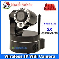 wireless wired ip camera - 3X Optical Zoom Wireless WiFi IP Camera HD MP CMOS CCTV Security System Alarm PTZ Webcam Support Mobile