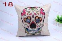Wholesale Fashion linen vintage Skull home pillow cushion covers car pillow