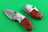 keychina - Top quality mantis mini folding knife7CR17MOV blade HRC sandalwood handle Keychina knife EDC pocket folding knife