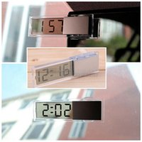 Wholesale 1pcs Durable Mini Digital Clock Clear LCD Display Car Home Electronic Clock With Sucker Cool