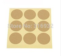 Wholesale E2 Christmas kraft paper solid blank round seal sealing sticker baking package cake box decoration