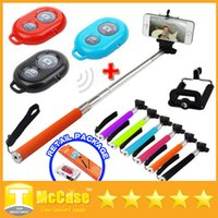 Wholesale Z07 Extendable Handheld Monopod Selfie Stick Cell Phone Clip Holder Bluetooth Wireless Remote Controller For iPhone Samsung