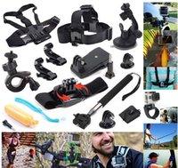 Wholesale 12in1 GoPro Accessories Set Go pro Wrist Strap Helmet Extention Kits Mount Chest Belt Mount Bobber For Go pro Hero