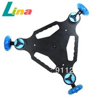 Wholesale SLR Ultra silent Three wheel Camera Slider Car Truck Dolly Skater Table Top Car Adjustable For DSLR Camera