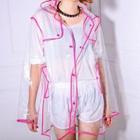 Wholesale 2015 Transparent Clear Womens Girls Fashion Rain Coat Festival camping Mac Raincoat pieces