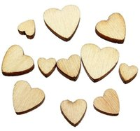 Wholesale X6 X8 X10 X12mm Wooden heart shaped production Scrapbooking
