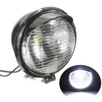 Wholesale Universal Motorcycle LED Headlight Black Case For Harley Chopper Bobber Custom
