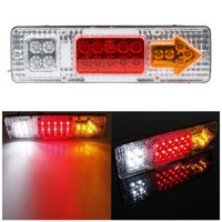 Wholesale 2X V LED TRUCK TRAILER CARAVAN VAN REAR TAIL STOP REVERSE INDICATOR LIGHT LAMP by epacket ZM00058