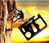 Cheap Credit Card Survival Pocket Knife 11-1 Multifunction Multi Mini Saw Camping Tool