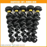 Wholesale Loose Wave Brazilian Virgin Hair Jet Black Human Hair Extensions Wavy Peruvian Malaysian Indian Remy Hair Wefts Weaves Bundles quot quot