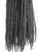 Wholesale Black wig African braid kinky twist hair extension Marley braids