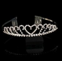 Wholesale diamond tiara Tiaras dresses bridal crown classic Korean alloy diamond tiara crown Bridal Accessories bridal hair accessories