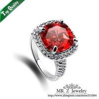 real diamonds - Luxury AAA Zircon Plated Real White Gold Imitation Diamond Ring Wedding Jewelry Size