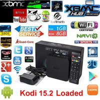 Wholesale Android TV Box MXQ Amlogic S805 G G HDMI Quad Core Media Player KODI Fully Loaded IPTV K Movie Channels XBMC Pre installed