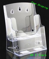 acrylic pamphlet holders - Clear A5 Two Tiers Pamphlet Brochure Literature Plastic Acrylic Display Holder Stand To Insert Leaflet On Desktop