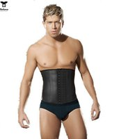 Wholesale Latex Waist Trainer for Men Hot Shapers Waist Cincher Firm Tummy Slimming Latex Waist Cincher Corset Plus Size Waist Training Corsets
