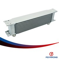 Wholesale PQY RACING Aluminum Universal Engine transmission AN10 Oil Cooler rows SILVER PQY7010S