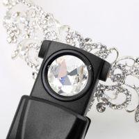 Wholesale 10pcs Black Mini X21mm Withdrawing LED Light Jeweler Glass Magnifier Loupe