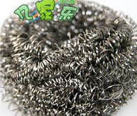 Wholesale Brush a bowl brush pot essential stainless steel wool cleaning ball cleaning brush A124