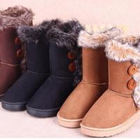 Wholesale winter super warm suede boots top fashion imitation mink plush snow boots