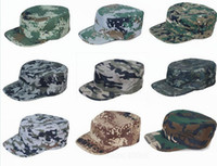 military caps hats - New Fishing Hunting Army Marine Bucket Jungle Cotton Military Boonie Hat Cap Camo Outdoor Products Camouflage caps Sun Cap LJJH147