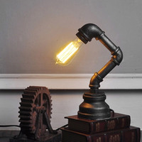 antique cafe table - Antique Gift of Europe Industiral Style Iron Table Lamp Punk Bar Cafe Store Lighting Decors Use E27 Blubs Bedside Light order lt no track