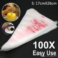 Wholesale 100 Small Size Disposable Piping Bag Icing Fondant Cake Cream Decorating Pastry Tip Tool X CM