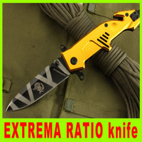 cutting tools - Cutting tool Golden handle edition EXTREMA RATIO MF3 mm folding knife HRC color balde pocket knife best gift L