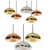 art deco bowl - Tom Dixon Void Light Creative Design Chandelier Pendant Lights Fixtures Bulb freely Modern Cooper Bowl Bread Glass Room Lighting