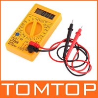 ac checker - DT830B DT B AC DC Professional Electric Tester Checker Tester Digital Multimeter with retail box Yellow Black freeshipping