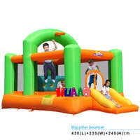 8-11 Years inflatable games inflatable bouncer - 2015 used party big pillar bouncer jumping inflatable bouncer castle for kids games