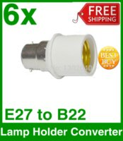 bc bulb holder - Lamp Light Bulb Socket Converter Adaptor BC to ES B22 E27 Screw Globe Holder for Home Use