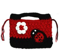 Wholesale Retail New Super Cute Children Handmade Knitting Bags Cartoon Hand Bag Decoration Package X7CM BB0027