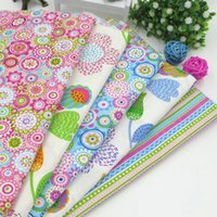 Wholesale New cm cm Colorful Summer Style Cotton Fabric For Sewing Patchwork Home decoration Cushions Pillows And Quilting Crafts