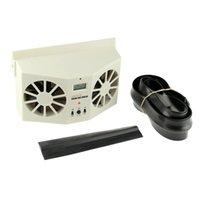 Wholesale Solar Cool Fan Sun Power Car Auto Air Vent Cool Fan Cooler Ventilation Radiator System NEW