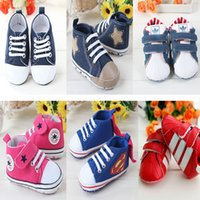 boys shoes - New Baby Girls Fabic Walker Shoes Newborn Boys Soft Bottom Non slip Shoes Kids White Stripe Prewalker Shoes Children Superman Shoes Style