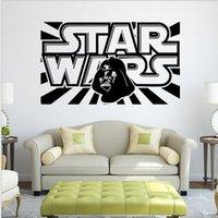 bathroom artwork - 20PCS Hot Selling DEATH STAR ARTWORK Star Wars LOGO Wall Decal Removable d WALL STICKER Home Decor Art Clone boy s room decor BFH744