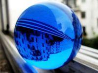 Wholesale New mm Asian Rare Natural Quartz Blue Magic Crystal Healing Ball Sphere Stand